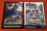 Rookie Card Lot Clayton Kershaw Bowman Chrome 2008/Hyun-Jin Ryu Auto Topps Dodge
