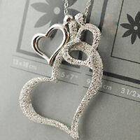 2017New Style Women Three Love Heart Pendant Necklace Clavicular Chain Gifts Hot