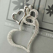 2017style Women Three Love Heart Pendant Necklace Clavicular Chain Gifts Hot