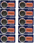 Lot 10 Fresh SONY CR2032 DL2032 ECR2032 CMOS Lithium 3V Watch Battery Exp 2029
