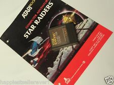 Atari Computer 400 800 XL XE Star Raiders with Manual CXL4011 Video Game System
