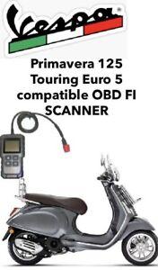 Primavera 125 Touring Euro 5 Compatible OBD FI Scanner