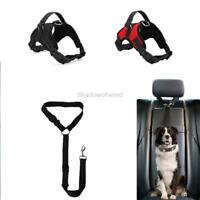 Dog Harness and Leash Set No Pull Adjustable Nylon with Handle Easy on Easy Off