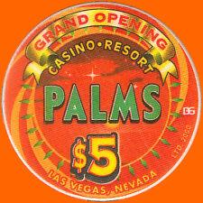 PALMS $5 2001 GRAND OPENING B&G CASINO CHIP LAS VEGAS NV - FREE SHIPPING