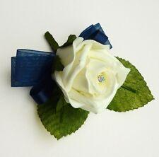 Artificial Navy Rose Buttonhole - Wedding Flowers