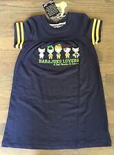 Rare NWT Harajuku Lovers Navy Blue Cartoon Novelty Print T-Shirt Girls Dress 6