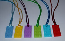 BOY GIRL PARTY FAVORS 1 LEGO BRICK BLOCK PLATE NECKLACES  BIRTHDAY  U PICK COLOR