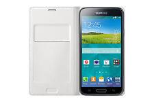 Original Samsung Wallet Flip Cover Case EF-WG900 für Galaxy S5 SM-G900F Weiß