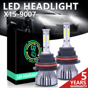 9007 HB5 LED Headlight Bulbs Conversion Kit High Low Dual Beam 6500K Super White