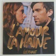 ELEPHANT : L'AMOUR LA HAINE ♦ CD SINGLE PROMO ♦