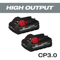 Milwaukee M18 18-Volt Lithium-Ion HIGH OUTPUT CP 3.0Ah Battery (2-Pack)
