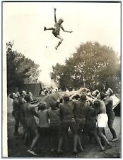 Moisson, jamboree de 1947, les jeunes scouts tchèques Vintage silver print,Ini