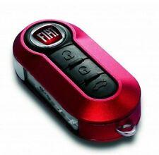 Coque clé télécommande Fiat 500 Panda Ducato Brava Stilo Bravo (ROUGE CERISE)