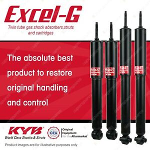 Front + Rear KYB EXCEL-G Shock Absorbers for SAAB 900 I4 FWD All Styles
