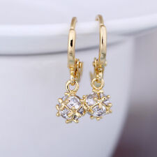 Gorgeous Gold Filled Crystal Zircon Ball Dangle Drop Charm Hoop Earrings Gifts
