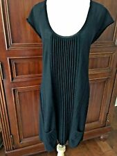 Walter Baker Black Dress Sz Large  Cashmere Knit Pleated