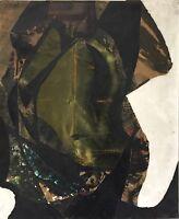 OTTESEN Fréderick Lund huile et collage sur toile signée art abstrait American