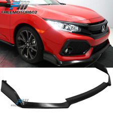 Fits 17-20 Honda Civic Si Hatchback Type R Style Front Bumper Lip Unpainted PU