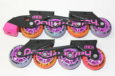 Roller Derby Rd Falcon Gtx Roller Blades Set Pink/Orange Wheels Trac Star