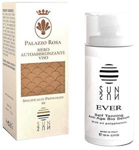 ORGANIC SELF-TANNING SERUM Intensive anti-wrinkle, develops golden & natural tan