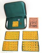 RARE Vintage Chinese Mahjong Mah Jong Jongg Set 156 Tiles : 5 Sets Flower Tiles