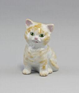 9986008 Tirelire Lindner Porcelaine Figurine Chat 10x7x14cm