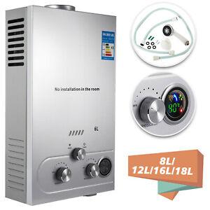 8-18L Propangas Gas LPG Durchlauferhitzer Warmwasserbereiter Warmwasserspeicher