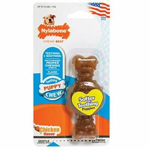 Nylabone Just for Puppies Petit Chkn Flavored Puppy Ring Bone Teething Chew Toy