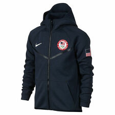 NIKE TECH YOUTH FLEECE FULL ZIP TEAM USA OLYMPICS JACKET 826816-473 MSRP $130