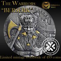 "New 2019 Germania 10 Mark The Warriors – ""Berserk""  2 oz 9999 High Relief Silver"
