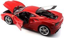 Ferrari 488 GTB Rosso Red BBurago 1/18 Scale Diecast 16008r Model Car by Burago