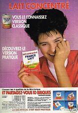 Publicité advertising 1986 Lait Concentré France Lait