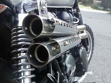 TRIUMPH SCRAMBLER  MASS MASSMOTO 2 IN 2 MOHAVE COMPLETE EXHAUST SILENCER SYSTEM