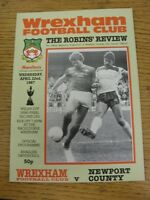 22/04/1987 Welsh Cup Semi-Final: Wrexham v Newport County  . Good condition unle