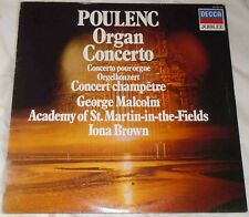 Poulenc Concertos vinyl LP George Malcolm Iona Brown St Martin-in-the-Fields