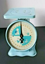 Vintage Nursery Baby Scale 30 pounds by Ounces Baby Blue