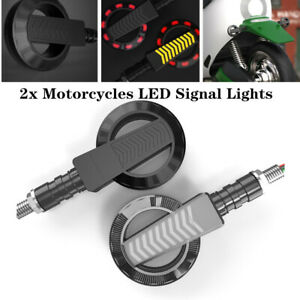 2x12V Universal Round Motorcycle Daytime Turn Signal High-bright LED Light Lamp