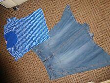 DEBENHAMS-LADIES bundle SIZE 12-14 MIXED ITEM CLOTHES,multi,DENIM skirt,TOP