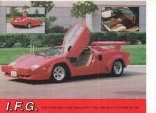 IFG 25TH Anniversary (Lamborghini replica, made in USA)_1997 Prospekt / Brochure