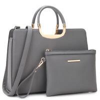 Dasein Women Handbags Faux Leather Briefcase Work Bags Satchels Shoulder Purse