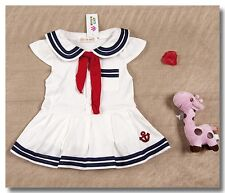 Toddler Baby Girls Sailor Costume Suit Outfit Fancy Dress Romper Clothes Sets