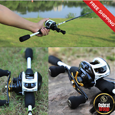 Decals Fishing Rod Reel Combo Carbon Fiber Baitcasting Freshwater Saltwater