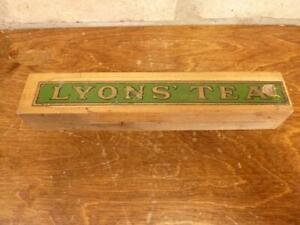 A Lovely Vintage Lyons Tea advertising Sliding pencil box  case