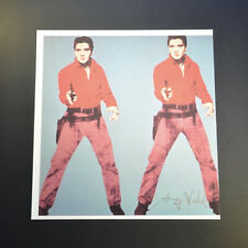 Andy Warhol, Elvis I and II (Red Clothes with Blue Background). Hand Signed, COA