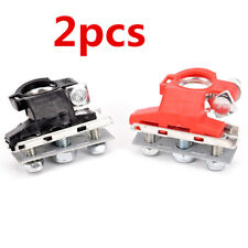 2Pcs Universal Car Truck Battery Cable Terminal Connector Quick Release Clamps
