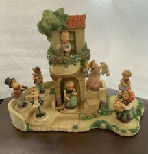 New ListingGoebel Torhaus Garden Hummel Display w/ 8 Figurines Designed by Olszewski 1991