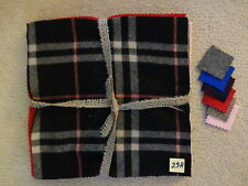 Felted Wool Bundle (Qty 10) 12 x 12 in Plaid & Solid Colors pkg #23A