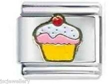 Cupcake - DAISY CHARM by JSC Italian Charms Fits Classic Size Bracelet