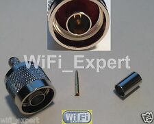 50 PACK N Male plug crimp for RG58 RG142 RG400 LMR195 cable RF Connector USA
