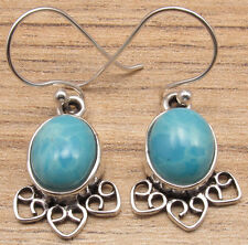 925 Silver Plated Simulated LARIMAR Earrings !  ! Price Start From $0.99